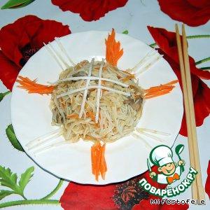 Рецепт Воздушная фунчоза с грибами и сельдереем