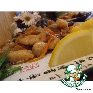 Рецепт Филе пангасиуса, тушенное с овощами  Hongchao Yu
