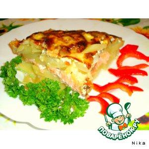 Лосось с картофелем под сыром рецепт приготовления с фото пошагово