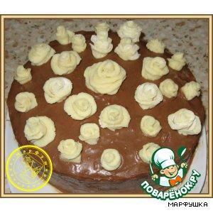 """Рецепт Бисквитный торт """"21 ... роза"""""""