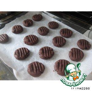 Рецепт Шоколадно-малиновое печенье