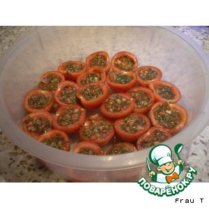 Рецепт Помидорки солено-фаршированные