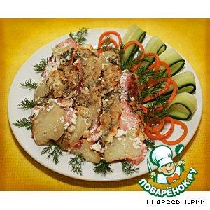 Рецепт Картофельная запеканка с копченой рыбой