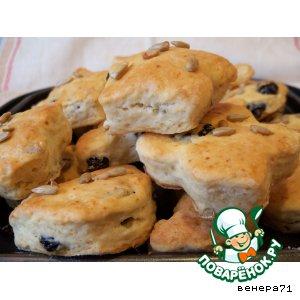 Рецепт Печенье с изюмом и семечками