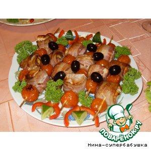 """Рецепт Кебаб из рыбы """"Кусочки удовольствия"""""""