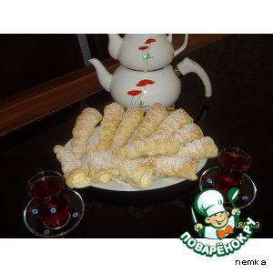 Готовим Слоeные трубочки с кремом домашний рецепт с фото