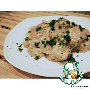 Рецепт Домашние пельмени в грибном соусе