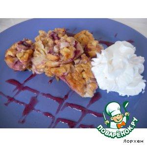 Рецепт Клафути с яблоками и вишней