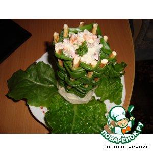 Рецепт Луковая корзинка с салатом