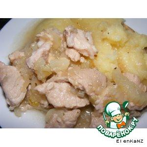 Рецепт Свинина тушеная в яблочном соусе