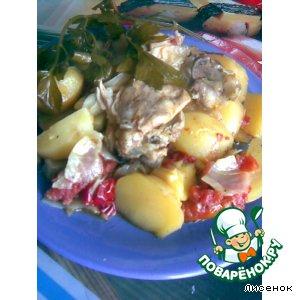 Рецепт Pollo al vinagre - курица в уксусе