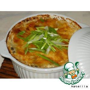 Рецепт Картофель с опятами, томленый в сливках, под сырной корочкой