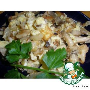 Рецепт Жареные вешенки с яйцами