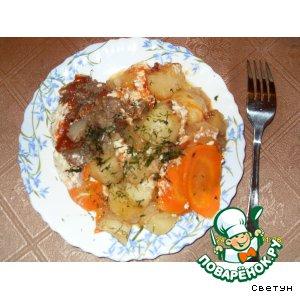 Рецепт Картошка с мясом в рукаве