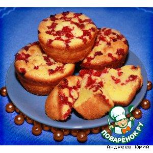 Рецепт Апельсиновые кексы с брусникой