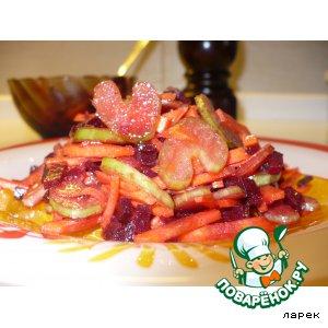 Рецепт Салат с сельдереем и свеклой по-корейски