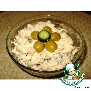 Рецепт Салат из курицы с оливками