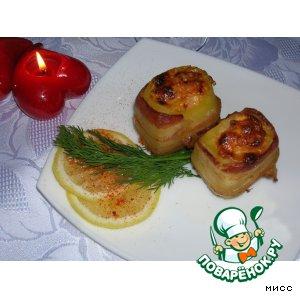 """Рецепт Картофель, запечeнный с креветками """"Волшебный поцелуй"""""""