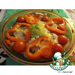 Рецепт Камбала «Праздничная» с овощами