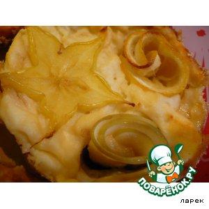 Рецепт Запеканка творожная порционная с лимоном и яблоками
