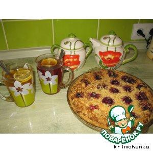 Рецепт Творожно-вишневый пирог