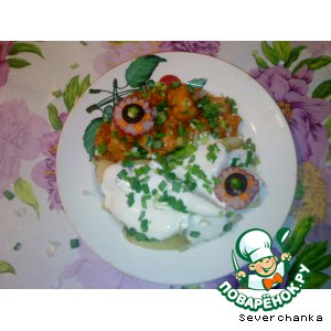 Рецепт Говядина в кисло-сладком соусе с жареной картошкой