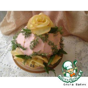"""Рецепт Закусочный торт """"Подарочная шкатулка"""""""