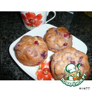 Рецепт Маффины из сметаны, белого шоколада и ягод