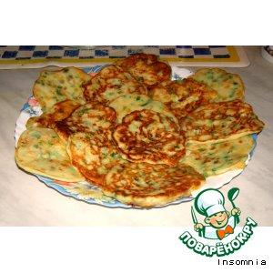 Рецепт Оладьи из кукурузы с зеленым луком
