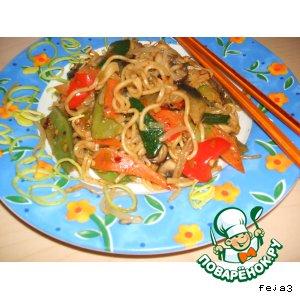 Рецепт Овощи  с китайской вермишелью