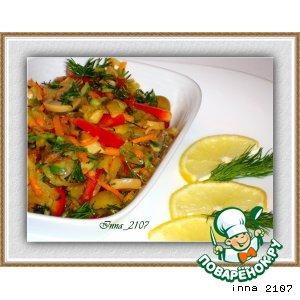 Рецепт Салат из грибов с оливками