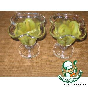 Рецепт Десерт с киви и зелeным чаем