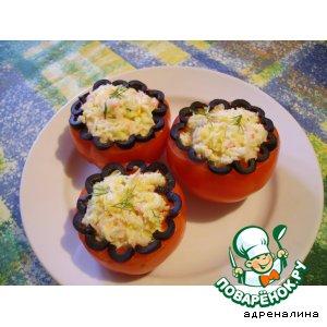 Рецепт Помидоры, фаршированные крабовым салатом