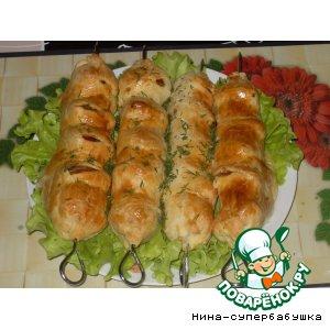 Рецепт Кебабы из помидоров и сулугуни