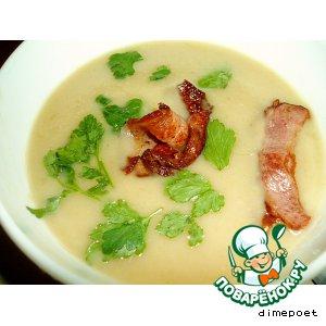 Рецепт Суп-пюре из черешкового сельдерея и фасоли