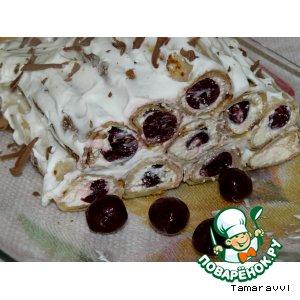 """Рецепт Блинный торт """"Масленичная изба"""""""