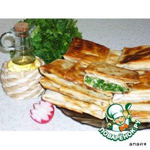 Рецепт Лаваш с зеленью, сыром и яйцами