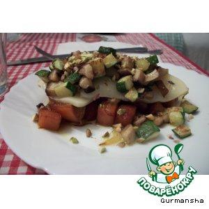 Рецепт Маринованная тыква с грибами и сыром