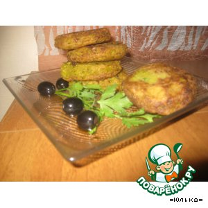 Рецепт Биточки из зеленого горошка