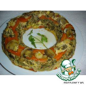 Рецепт Запеканка овощная с креветками и грибами