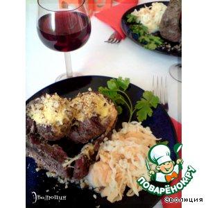 Рецепт Рулеты из говядины с грушей и сыром «Мы вместе»