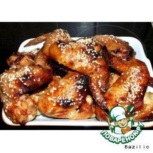 медовые крылышки с кунжутом рецепт