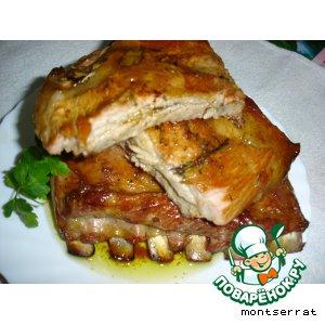 Рецепт Запеченная свиная грудинка