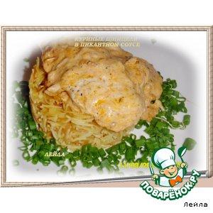 Рецепт Куриные шницели в пикантном соусе