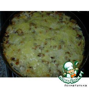 """Рецепт Запеканка с курицей и грибами """"Самая вкусная"""""""