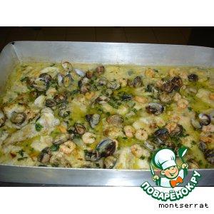 """Рецепт Рыба """"рапе""""в соусе из морепродуктов(rape a la marinera)"""