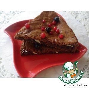 """Рецепт Шоколадный десерт """"Брауни"""""""