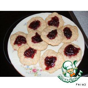 Рецепт Кокосовое печенье вегетарианское