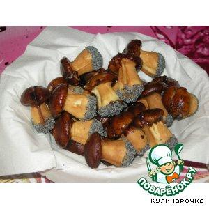печенье грибочки рецепт с фото в формочках