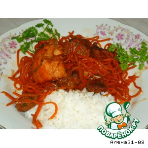 Рецепт Мясо с корейской морковью